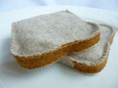 Felt Bread Slice Felt Toast by FranconiaRidgeStudio on Etsy, $8.00