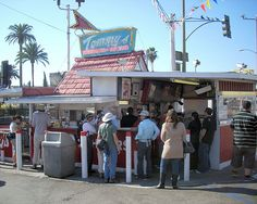 Lunch at Tommys Original Burger, Los Angeles