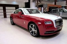Rolls-Royce Wraith in Ensign Red and English White