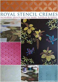 The Best Stencil Paint Now in 8 New Metallic Colors   Royal Design Studio