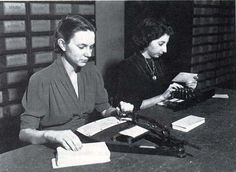Preparation of punched cards for the U.S. Census.