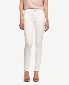 Rene White Skinny Leg Jeans (€32) ❤ liked on Polyvore featuring
