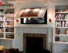 Hide Tv Above Fireplace - Alot.com | homediy | Pinterest | Hide tv ...