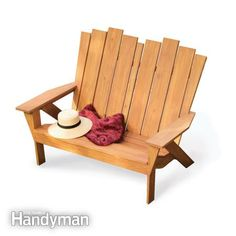 How to Make an Adirondack Chair and Love Seat!! Awesome tutorial with different shaped backs and details!