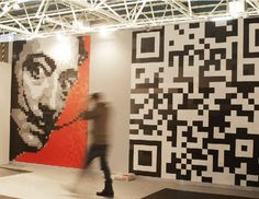 Dalí and BIDI Wall Decoration with magnetic Pixels!