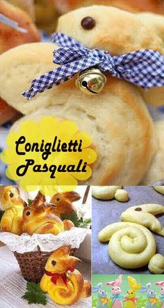 easy and creative bread recipe for easter 2 Bunny Bread, Easter Treats, Easter Cake, Italian Cookies, Mini Desserts, Antipasto, Coffee Cake, Finger Foods, Italian Recipes