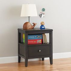 Bayside Rustic Nightstand (Denim Finish) in Nightstands | The Land of Nod