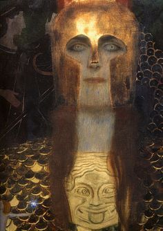 Gustav Klimt - Pallas Athena (1898) [detail]