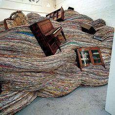 David Mach's amazing magazine installation