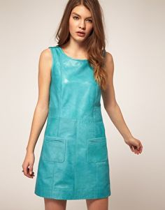 robe cuir turquoise ASOS