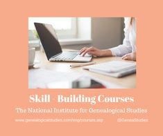 Courses for Genealogy Research Skills Research Skills, Genealogy Research, Organization Hacks, Study, Building, Tips, Studio, Buildings, Studying