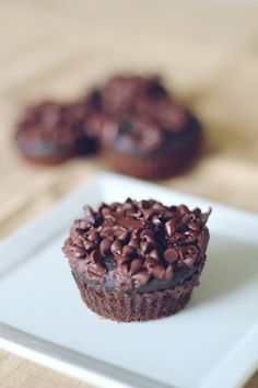 Triple Chocolate Chunk Muffins #glutenfree