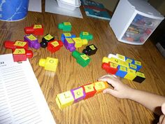Using Legos for spelling
