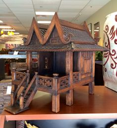 Large Thai Spirit House Gazebo, Spirit, Houses, Outdoor Structures, Asian, Accessories, Furniture, Home Decor, Homes