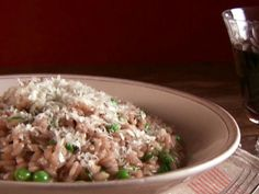 I've made this one many times, and even the mushroom-haters absolutely love it.  Get this all-star, easy-to-follow Food Network Mushroom Risotto with Peas recipe from Giada De Laurentiis.