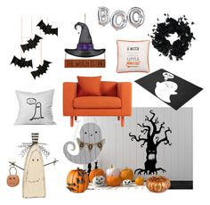 """On A Hollows Eve..."" by amandamariko ❤ liked on Polyvore featuring interior, interiors, interior design, home, home decor, interior decorating, Improvements, Meri Meri and Primitives By Kathy"