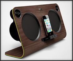 A speaker dock from House of Marley. It has two 4″ subwoofers and two 1″ dome tweeters [ AutonomousAvionics.com ] #new #avionics #technology