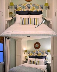 31 Small Space Ideas to Maximize Your Tiny Bedroom For those of people who live in small apartments, lofts or a compact house, keep the small bedrooms from clutter must be an everyday challenge. Fortunately, there are a lot of smart storage solutions help Small Room Design, Modern Bedroom Design, Bedroom Designs, Contemporary Bedroom, Modern Design, Bedroom Layouts, Bedroom Styles, Small Rooms, Small Apartments