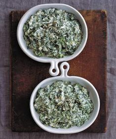 Creamed Spinach ~ Really good, quick and easy!  10.1.12: made this tonight (halved the recipe though, and used 1 tbsp unsalted butter instead of olive oil; 1/2 & 1/2 + 2% milk, squeezed fresh lemon juice and drizzled EVOO on it at the end! I let it sit on the stove with a lid on/heat off and steep itself for a little while and was nice and creamy :)