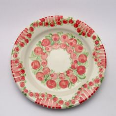 vernon Vernon, Plates, Tableware, Red, Tablewares, Licence Plates, Dishes, Dinnerware, Griddles