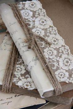 Notizbücher - Notizbuch Handgearbeitet und dekoriert - ein Designerstück von Vintage-Home bei DaWanda