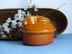 French Vintage GEO Rabbit Terrine. Wild Hare Pate Dish. Vintage Brown Ceramic Rabbit Pate Bowl. Medium Size Pate Dish. Rabbit Trinket Dish. by JadisInTimesPast on Etsy