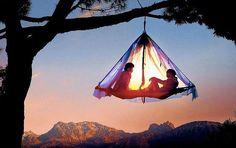 Tree camping in Elk, California