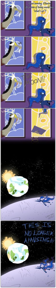 Too Easy by *grievousfan on deviantART. One of the best parts is the cloud is Discord laughing