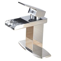 Eyekepper Modern Single Handle Waterfall Bathroom Sink Faucet (Chrome Finish)
