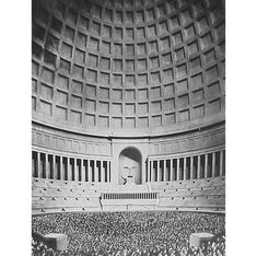 The Volkshalle (People's Hall), was a huge monumental building planned by Adolf Hitler and his architect Albert Speer