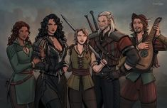The Witcher Books, The Witcher Game, Witcher Art, Geralt And Ciri, Character Art, Character Design, Character Reference, The Last Wish, Triss Merigold