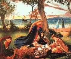 Morgan Le Fey Arthurian Legend Enchantress Camelot by Sandys 7x5 Inch Print k
