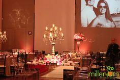 Millenium Festas e Decorações www.milleniumfestas.com.br Casamento de Caroline Basei e Geílson Silveira #wedding #bride #inspirations #pink #girlie #casamento #noiva