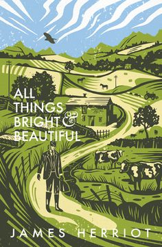 'All Things Bright & Beautiful' by James Herriot. Cover illustration by Tom Duxbury