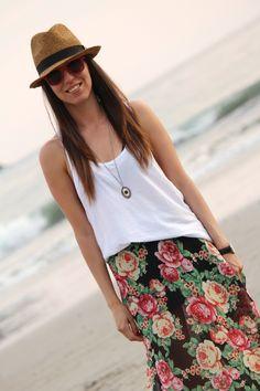 look-de-playa-con-sombrero Sombreros De Playa Mujer 2a0fcc58a10