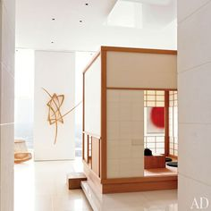 An east-meets-west New York apartment's authentic Japanese teahouse was made by Kohseki Co. in Kyoto.