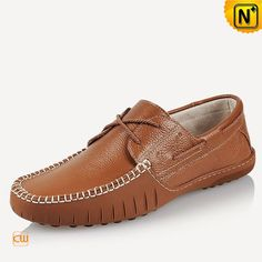 Leather Boat Stitched Driving Loafers for Men CW740106 $128.89 - www.cwmalls.com