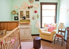 basket changing table   House of Turquoise:  Turquoise Nurseries Galore