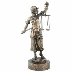 LAW~Lady Scales of Justice Lawyer Statue Law Office Sword Judge Attorney