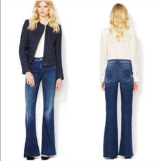 Mother Jeans The Mellow Drama New with tags! Flare Jeans Button-Zip Fly Closure Measurements taken on Size 25 Waist Across is 13 3/4 Inches Inseam is 34 Inches Rise is 9 Inches Mid-Rise Medium Rise                                                            98% Cotton/2% Elastane Stretch Denim Bundle for discounts! Read offers considered. Thank you for shopping my closet! Mother Jeans