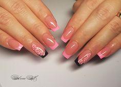 Pink Ombre Nails, Glittery Nails, Green Nails, Mani Pedi, Manicure, Vegas Nails, French Nail Art, Top Nail, Bridal Nails