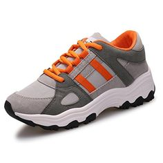CYBLING Casual Students Outdoor Sports Lace Up Athletic Walking Running Shoes for Women * Details can be found by clicking on the image.