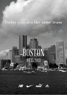 ボストンマラソン被害者遺族に哀悼の意を示す、4大スポーツブランドがタッグを組んだ広告  |  AdGang