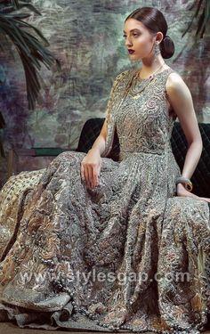 'Platinum' Bridal Couture Collection by Tena Durrani – Niftilicious Black Bridal Dresses, Latest Bridal Dresses, Dream Wedding Dresses, Bridal Gowns, Wedding Gowns, Pakistani Wedding Outfits, Pakistani Dresses, Indian Dresses, Indian Outfits