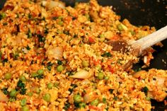 Cauliflower Spanish Rice Recipe - gluten-free, vegetarian, vegan, dairy free and nut free.