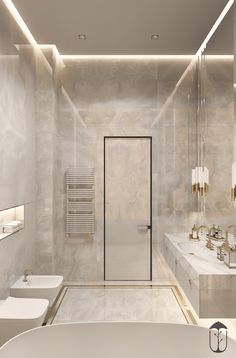 Luxury bathroom design for inspiration and ideas for your bathroom decor. Bathroom Design Luxury, Modern Bathroom Design, Home Interior Design, Modern Luxury Bathroom, Glamorous Bathroom, Bathroom Designs, Exterior Design, Dream Bathrooms, Small Bathroom