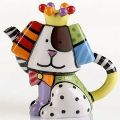 ROMERO BRITTO Mini Teekanne 'Hund' - Pop Art Kunst aus Miami: Amazon.de: Küche & Haushalt