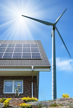 Add some nice renewable energy with a wind turbine and some solar panels.