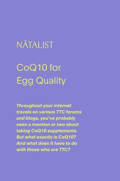 What exactly is CoQ10? And what does it have to do with those who are TTC? We sat down with OBGYN Dr. Kenosha Gleaton to find out. #prenatalvitamins #prenatal #wellness #prenatal #nutrition #womenshealth #ttc #pregnancy #pregnant #vitamins #fertility #fertilitydiet #baby #babyshower #love #education #OBGYN #fertilityfoods #pregnant #pregnancytest #ovulationtest #diy #health #wellness #inspo #pregnancystyle #fitpregnancy #pregnancyworkout #ttc #ivf #infertility #babyfever #mom #supplements