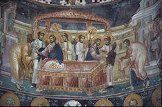 Frescoes Old Nagorichno centuries. Part IX Byzantine Icons, Byzantine Art, Church Icon, Life Of Christ, Church Interior, Eucharist, Orthodox Icons, 14th Century, Ikon